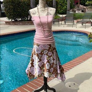 Vintage Satiny Skirt